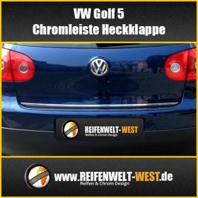 VW-Golf-5-Chromleiste-Heckklappe-Heckleiste